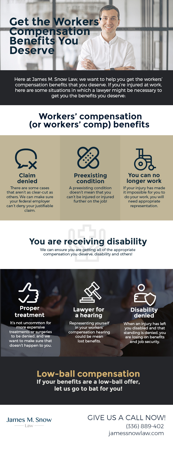 Get the Workers' Compensation Benefits You Deserve [infographic]